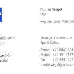 Dimitri Wegel - ZEISS